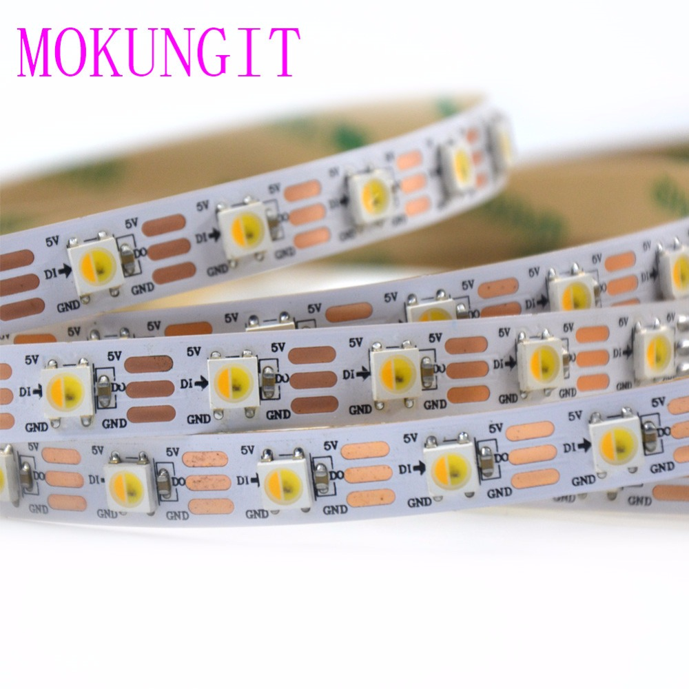 5M SK6812 WWA(Warm White/Cool White/Amber) 30 60 74 96 LEDs/Pixels/m 3 In 1 5050 SMD Led Strip Newest Programmable Addressable