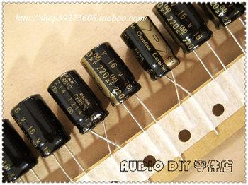 2020 hot sale 10pcs/30pcs ELNA Cerafine Series 220uF/16V Audio Electrolytic Capacitors super capacitor free shipping maitech 3 x 5mm 16v 10uf electrolytic capacitors black 10 pcs