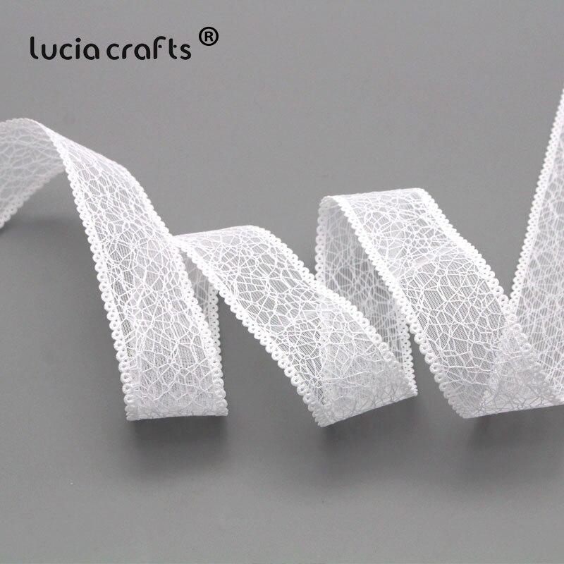 Artisanat Lucia ruban dhabillage en dentelle 5Yards/6Yards 25mm | Ruban en tissu, bricolage emballage cadeau de mariage décor de fête P0515