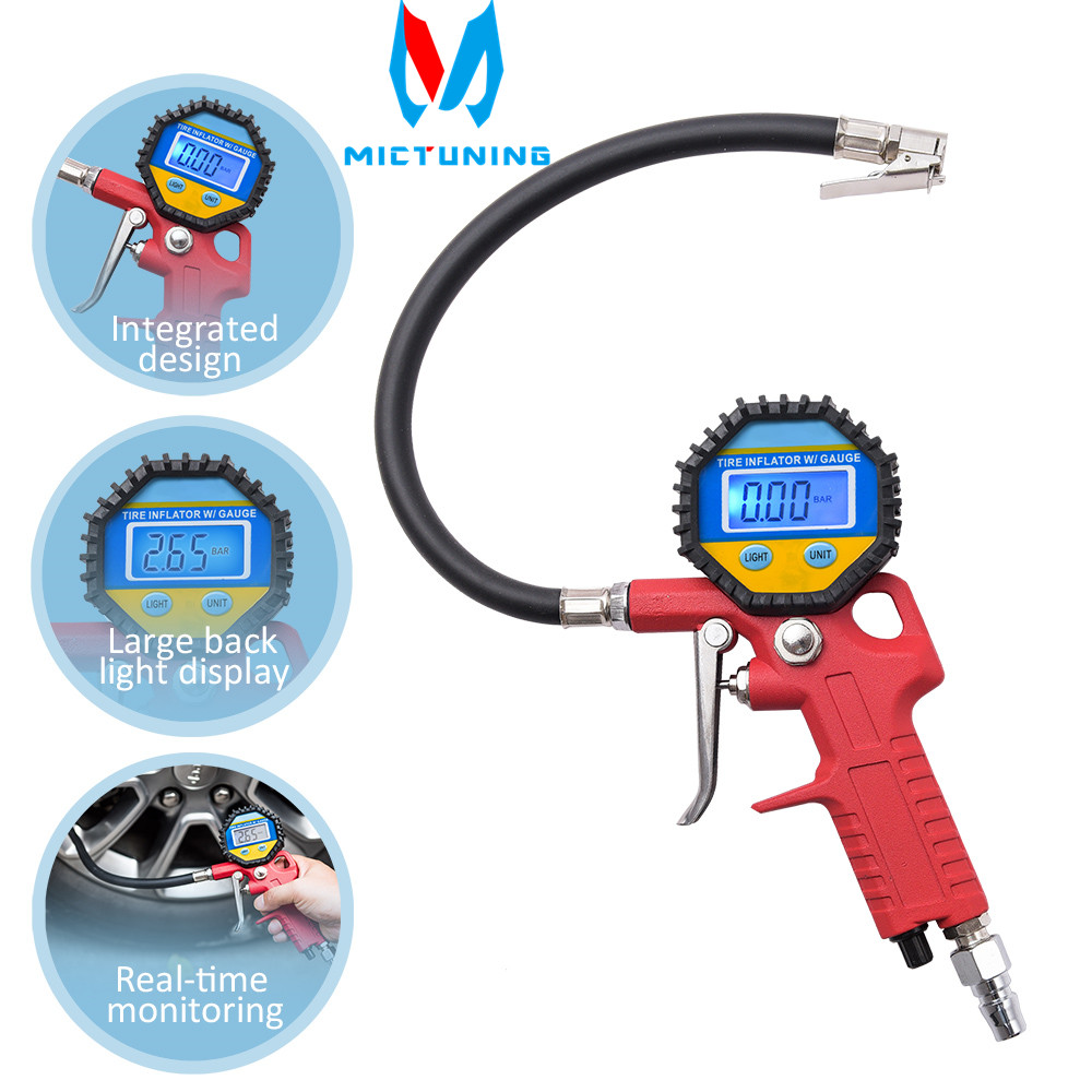 150PSI HD Digital LCD Backlight Tire Pressure Gauge Handheld Meter Tyre Inflator Inflation Tool For Motorcycle Car Truck