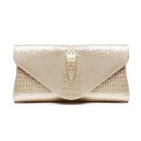Designer Brand Women Split Leather Day Clutch Bag Crocodile Pattern Ladies Messenger Bag Famous Ladies Evening