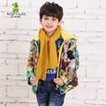 KAMIWA 2017 Winter Baby Boys Graffiti Print Cotton-padded Jackets Thick Down Coats Brand Parkas Kids Clothes Children Clothing