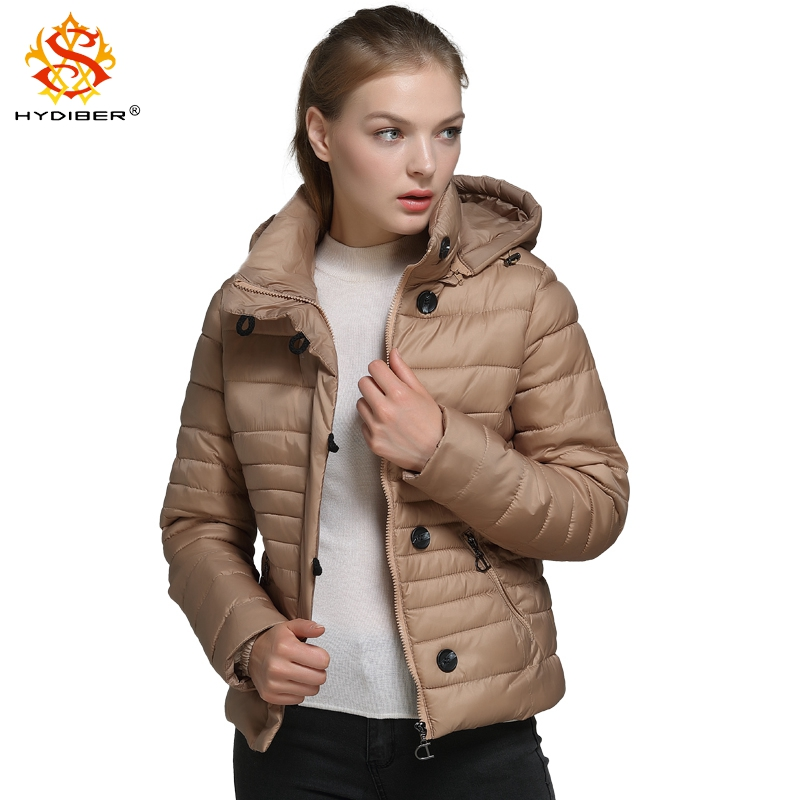hydiber 2017 New Fashion Rose Red Slimming Women Short Parkas Ladies Hooded Gold Fall Winter outwear Female Tops Coats Plus Size frank buytendijk dealing with dilemmas where business analytics fall short