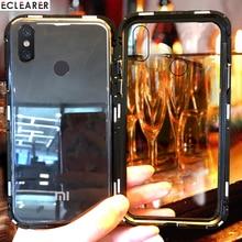 Tempered Glass Case For Xiaomi Mi 8 Lite Magnet Aluminum Metal Bumper Xiaomi Mi 8 Mi8 SE Magnetic Case Xiaomi Mi 8 SE Back Cover все цены