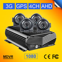 4PCS Waterproof Rear View Camera+4CH H.264 HDD 2TB Realtime Video/Audio CCTV Real Time Surveillance AHD Mobile Dvr CMSV6 free