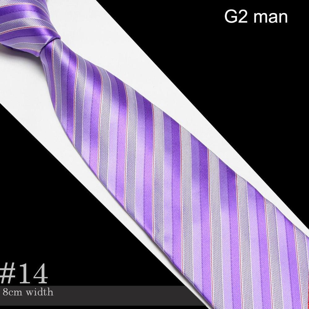 2018 purple Mens Microfiber Neckties fashion wedding silk tie neck ties striped business adult neck tie #14