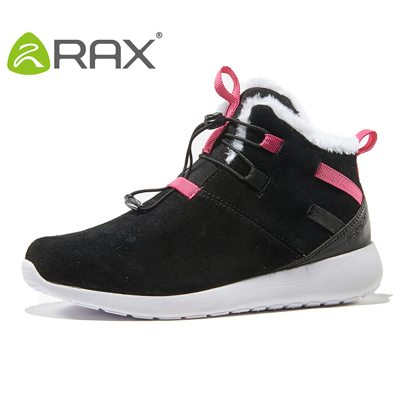 2017 RAX Fleece Winter Outdoor Snow Boots Women Warm Cold Boots Wear Rubber Hiking Shoes Snow Shoes For Women