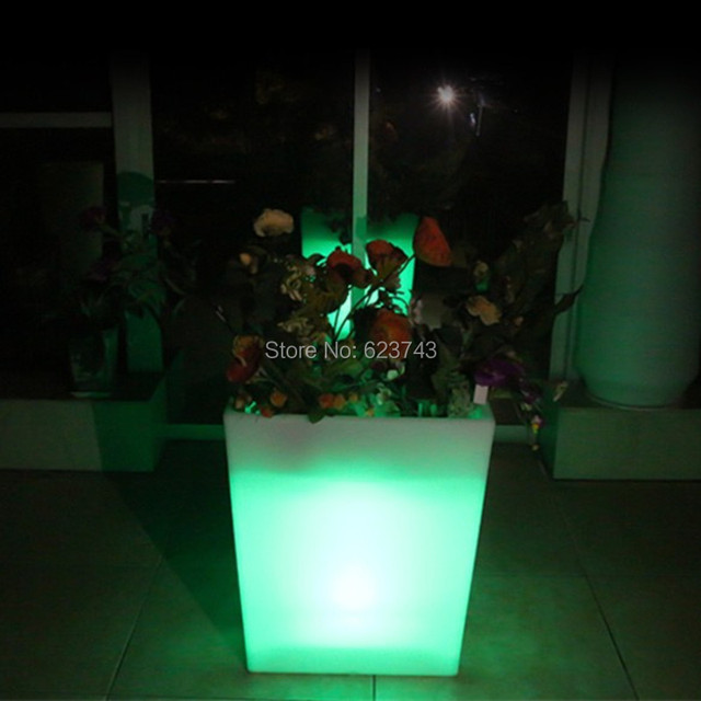 outdoor grote waterdichte oplaadbare y pot afstandsbediening led verlichte bloempot kleur veranderende led plant pot