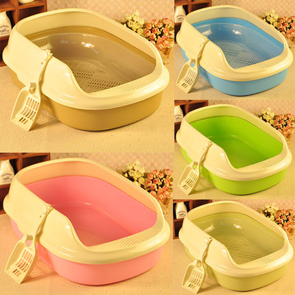 1PCS Double Deck Cat Litter Basin Bentonite Semi Enclosed Cat Toilet Deodorization Shovel Mail