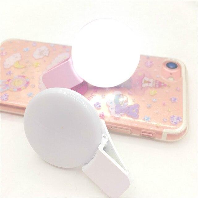 Usb Charging Selfie Ring Led Phone Light Lamp Mobile Phone Lens LED Sefie Lamp Ring Flash Lenses for Iphone Samsung 2