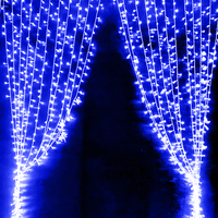 6 X 3M 600 LED Home Outdoor Holiday Christmas Decorative Wedding Xmas String Fairy Lights Curtain