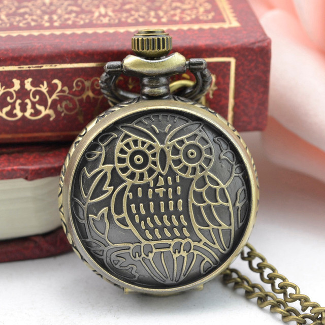 #5002Vintage Steampunk Retro Bronze Design Pocket Watch Quartz Pendant Necklace Gift DROPSHIPPING New Freeshipping Hot Sales