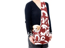 New Coffee Pet Sling Carrier Dog Cat Carrier dog carrier Free Shipping Retail puppy dog sling carrier bag