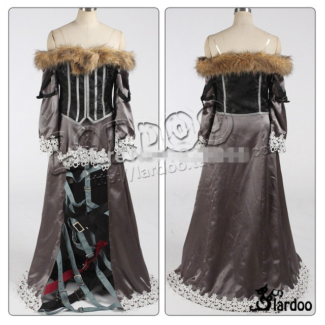 Hallowmas Christmas Game Anime Final Fantasy X 10 Lulu Dress Party Fashion Uniform Cosplay Costume Custom-made Any Size NEW