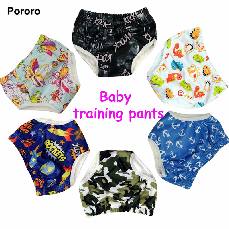 1 pc Baby Training Pants Child Cloth Study Pants Reusable Nappy Cover Washable Diapers Underwear Baby pull ups with bamboo inner