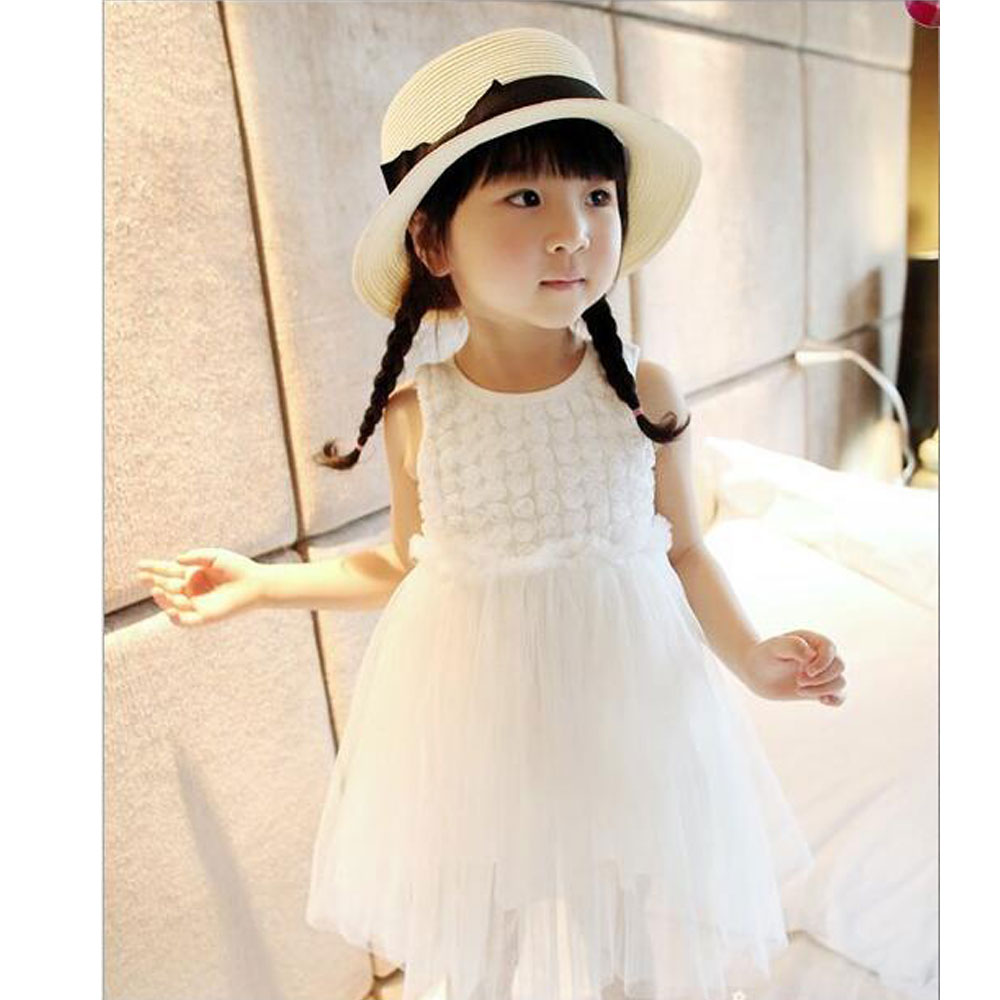New Fashion  Flower Girl Dress Party Birthday wedding princess Toddler baby Girls Clothes Children Kids Girl Dresses flower girls dress 11 color with rose party birthday chirstening dress for baby girl princess children toddler girl vest dresses