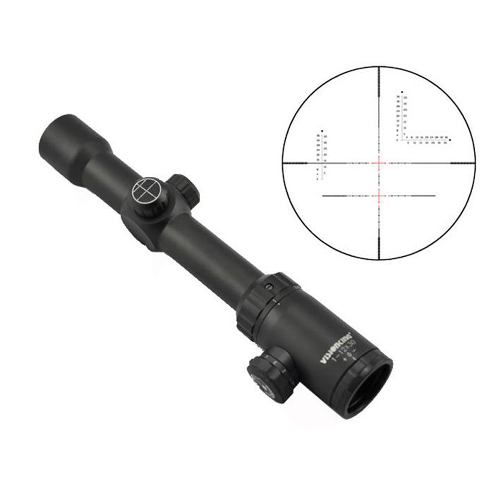 Visionking 1-12x30 Optical Riflescopes Waterproof Mil-Dot 30mm Hunting Scope Rifle Scope Military Tactical Luneta Para Rifle visionking opitcs 3 9x42 rifle scope mil dot tactical hunting long eye relief military sight 30mm for ar15 m16 m4 riflescopes