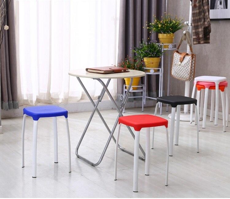 North American Fashion Bar Stool Living Room Dining Plastic Retail And Wholesale White Black Orange