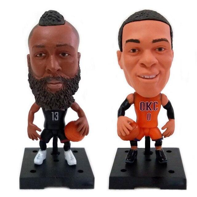 """Bonecas da estrela de basquetebol quente Jogador DA NBA Estrela Kobe James Harden Curry Russell Westbrook 2.5 """"Bonecos de ação Estatueta Toy O Melhor Presente"""