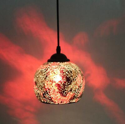 Bonito retro continental bar clube lâmpadas Pingente Luzes de entrada restaurante de comida Ocidental-estilo de arte de mosaico de vidro pingentes lâmpadas