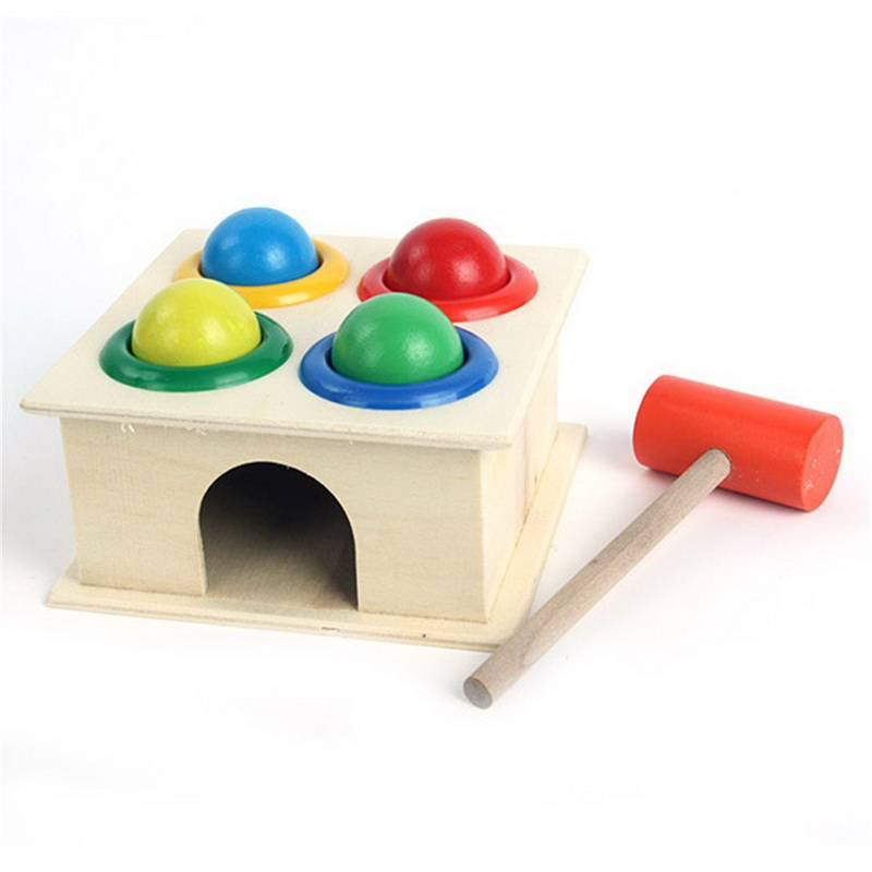 Learning and Education Infant Playing Type Wood Knock ...