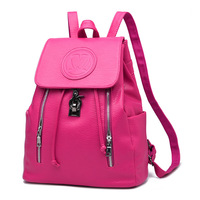 New Hot On Sale Elegant Backpacks For Teenage Girls Black String Hasp Feminine Backpack Top Quality