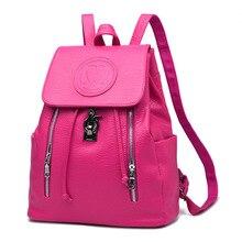 Новые Горячие на Продажу Элегантный рюкзаки для девочек-подростков Черный Строка Засов женский рюкзак Высокое Качество Школьные Сумки Продажа
