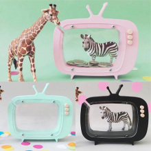 hot deal buy nordic photography props wooden piggy bank kids room decoration crafts television pattern coin money box figurines miniatures