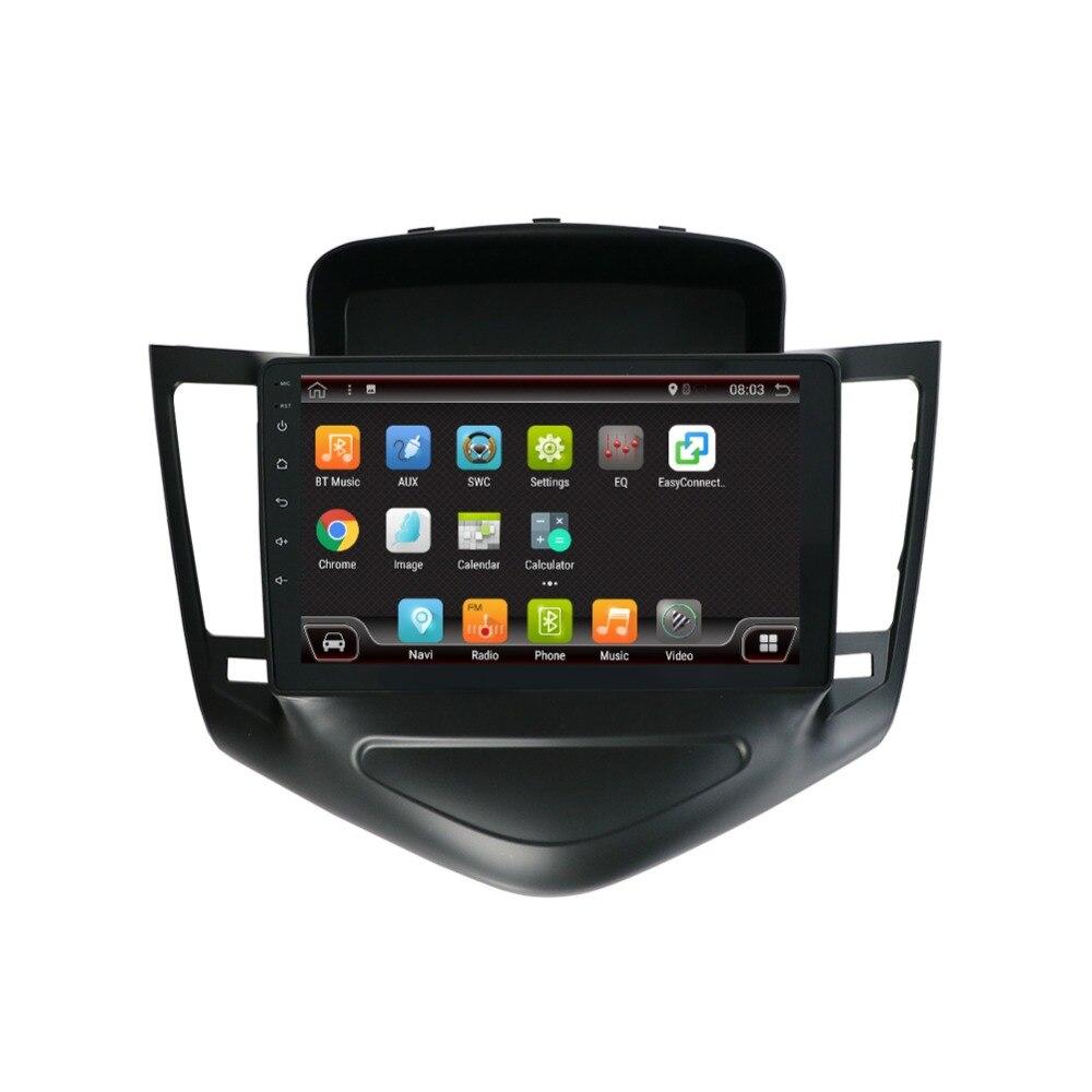 9 pouces android 8.1 système de voiture gps lecteur de radio vidéo multimédia dans le tableau de bord pour Chevrolet CRUZE navigation stéréo