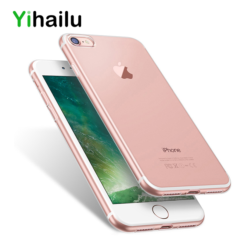 YIHAILU НОВЫЙ Для iPhone 7 ТПУ Случае Высокое Качество Мягкой Crystal Clear Прозрачный Кремния Тонкий 1.1 мм Для iPhone7 Плюс Назад крышка