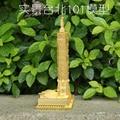 Original NANYUAN Taipei 101 puzzle toy 3D Metal assembling model Home Furnishing furnishings Creative gifts DIY Yellow Brass