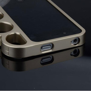 Image 3 - 100% aluminium alloy Boxing For iPhone 5 5s Bumper Fashion Lord Rings Knuckles Finger Phone Frame Case Cover for iPhone 5G SE