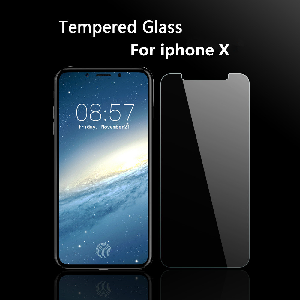 Clear glass iphone x case