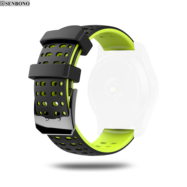 22mm Universal Watch Strap Silicone Double-color Wristband for Samsung Gear S3 For Amazfit tempo Smart Watch EX18 g8 GS8 GV68