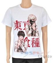 Anime Tokyo Ghoul Cosplay  kaneki ken Costumes Summer shirt Leisure T-shirt European size