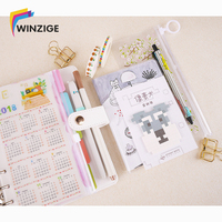 Clear Marble Series Stationery Notebook Set Best Student Rewarding Gift Gel Pen Memo Pads Bookmarker Super Big Planner Suit