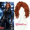 32 см Age of Ultron Мстители Черная Вдова Шатен Косплей Парик Синтетический Волос жаропрочных парик