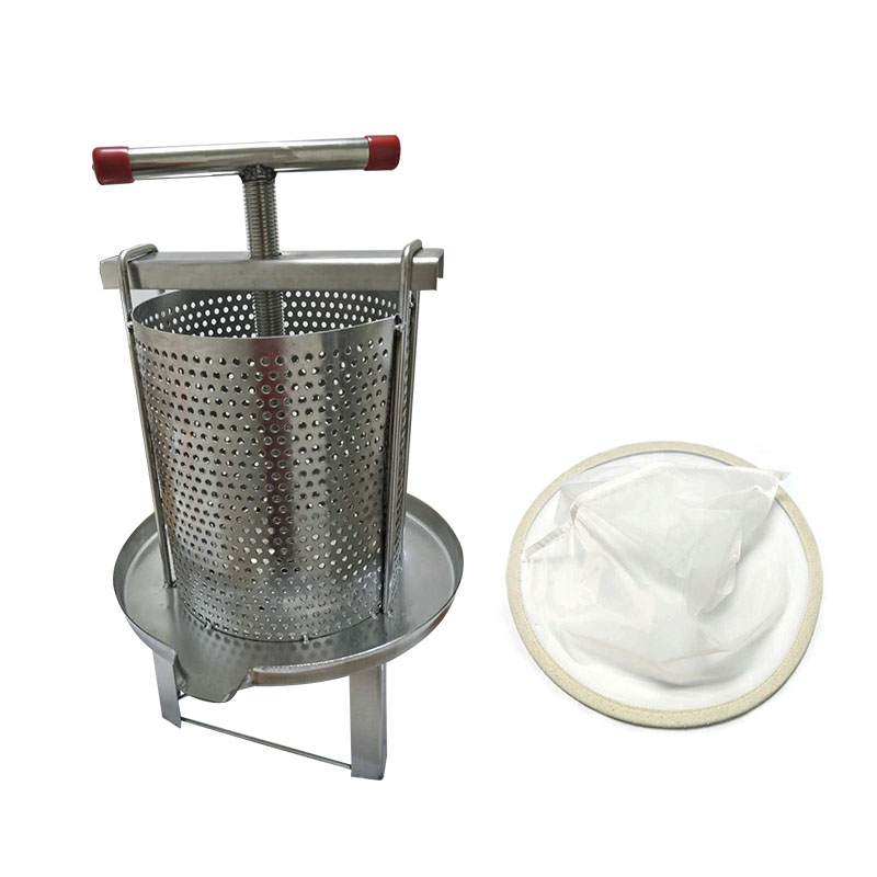 Free shipping Stainless Steel Household Manual Honey Press Wax Press Beekeeping Tool