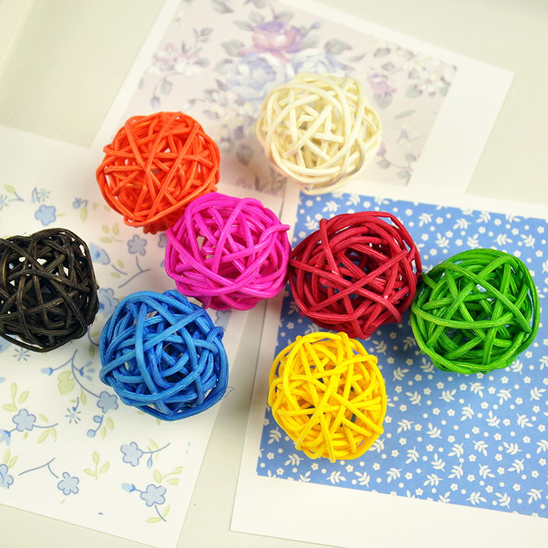 6pcs lot Colorful Rattan Wicker Balls Baby Kids Toys for Photo Studio Photography Props Background DIY Accessories Decorations in Photo Studio Accessories from Consumer Electronics