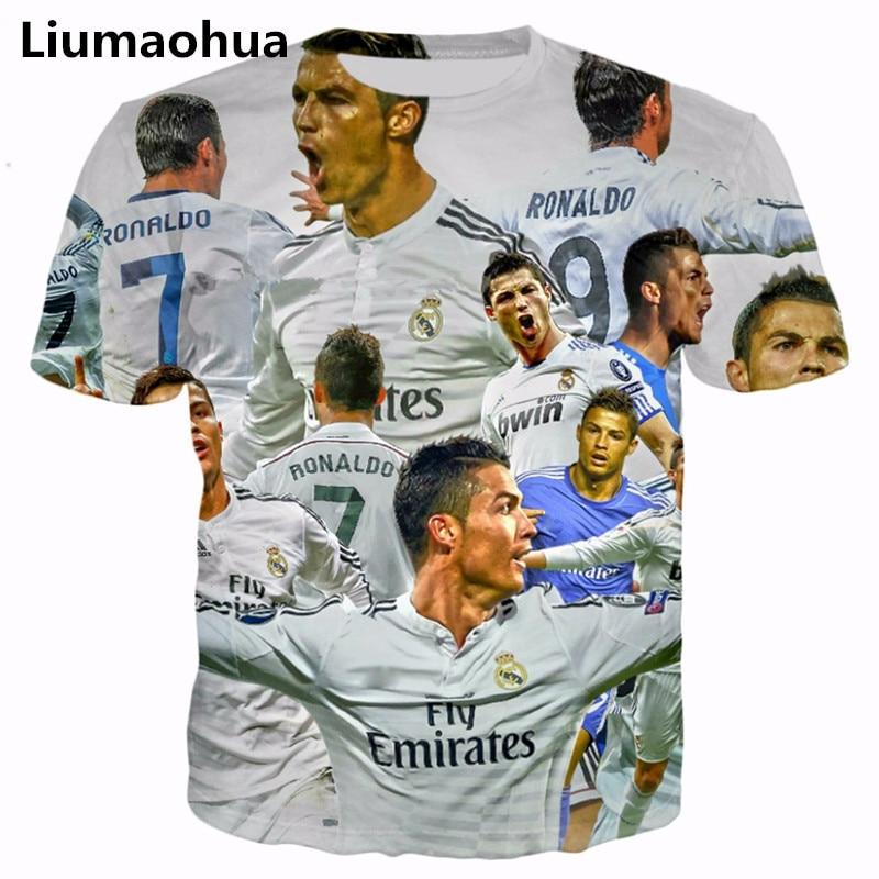 the best attitude c244a bd3d8 US $9.89 23% OFF|Liu Maohua 2018 new summer dress star Cristiano Ronaldo 3d  printing men's / women's t shirt street shirt-in T-Shirts from Men's ...