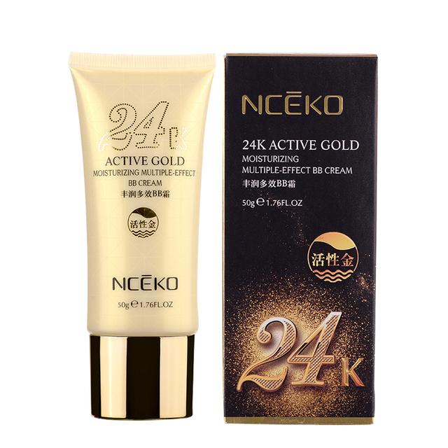 NCEKO 24 K Activo Oro Perfect Cubierta BB Crema Para Blanquear Protector Solar Hidratante Maquillaje Cosméticos Fundación Anti-Envejecimiento Hacer arriba