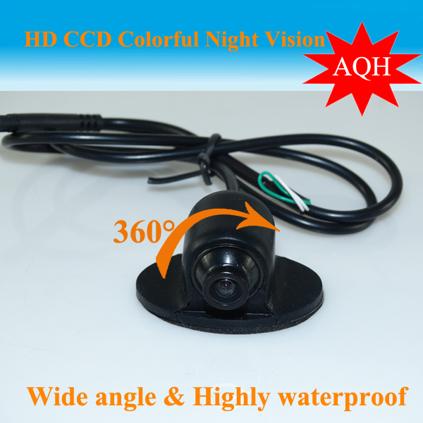 Promosi Mini CCD HD Night Vision 360 Degree Kereta Belakang Kamera Kamera Front Front View Side Reversing Backup Camera