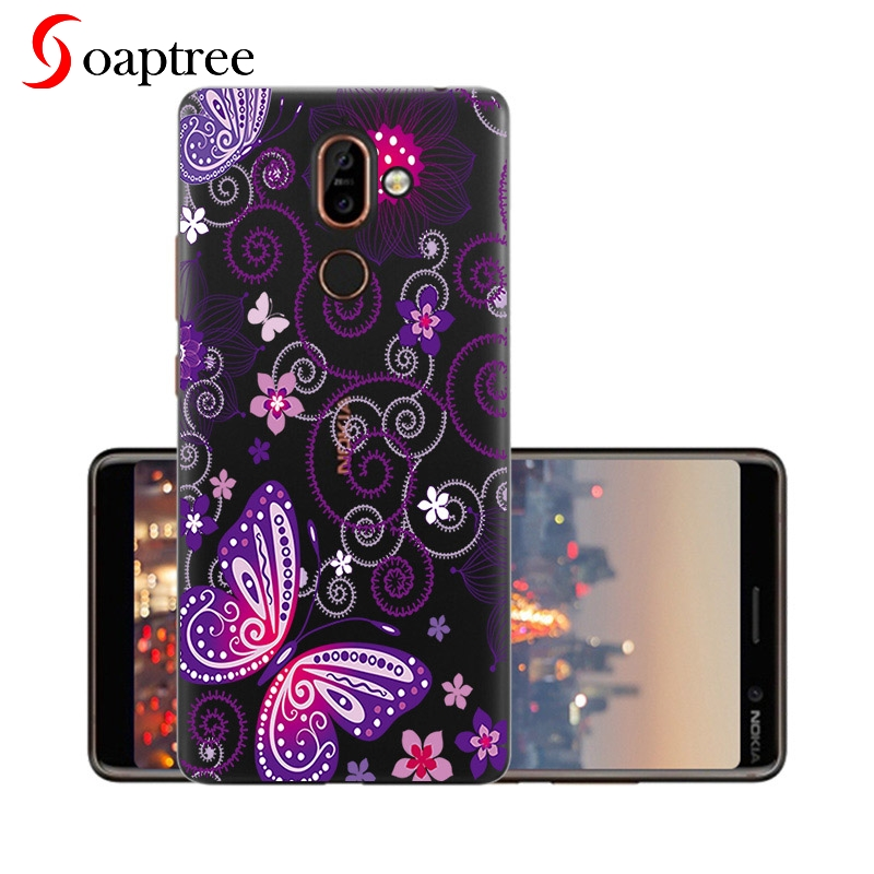 Silicone Cases for Nokia 7 Plus Case Cover for Nokia7 Plus Coque Printed Phone Cover Clear Soft TPU for Nokia 7 Case 6 0 inch in Fitted Cases from Cellphones Telecommunications