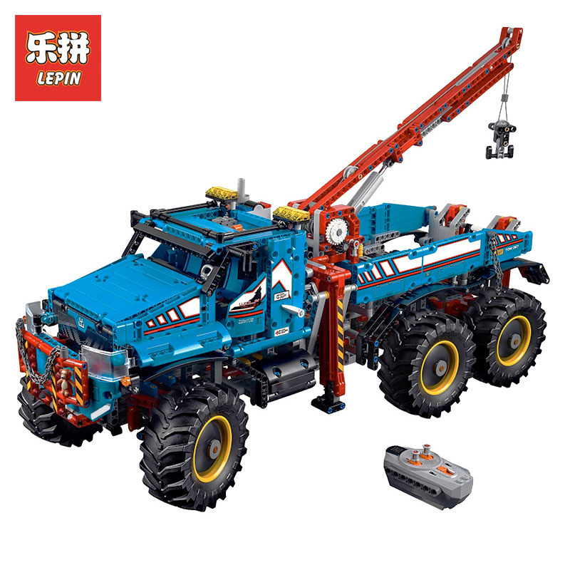 Lepin 20056 1912Pcs The Ultimate All Terrain Remote Control Truck Set Building Blocks Bricks Toys Model LegoINGlys 42070 nv print cf212a cartridge 731 yellow тонер картридж для hp laserjet pro m251 m276 canon lbp 7100cn 7110cw