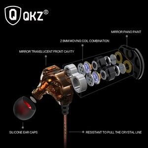 Image 4 - Earphones QKZ KD4 fone de ouvido Mini Dual Driver Original hybrid dual dynamic driver Headphone mp3 DJ Headset auriculares