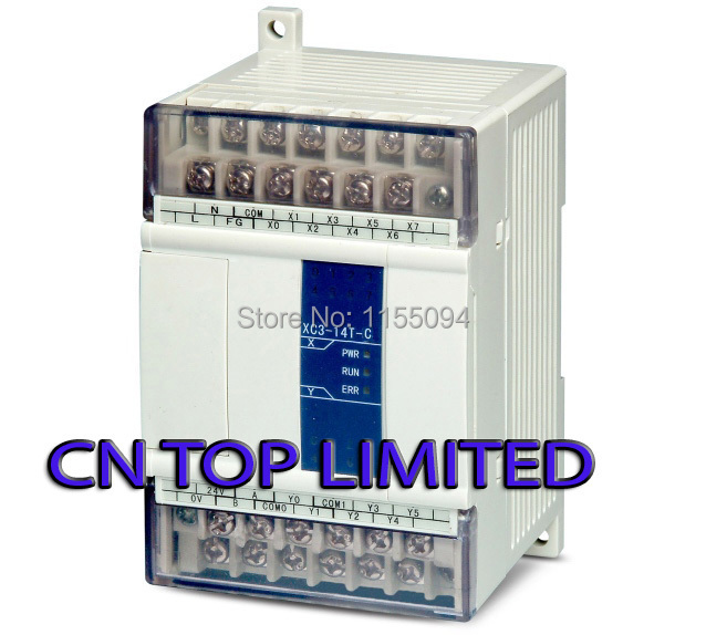 XC3-14T-C XINJE PLC CPU DC24V 8 DI NPN 6 DO Transistors with programming cable & software New xc3 24r c plc cpu dc24v 14 di npn 10 do relay with new original