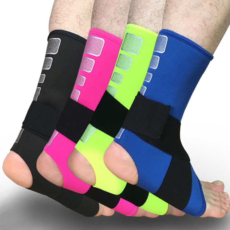 Dashing 1pcs Professional Sports Ankle Wraps Bandages Elastic Ankle Support Brace Protector Men Women Basketball Soccer Ankle Pads