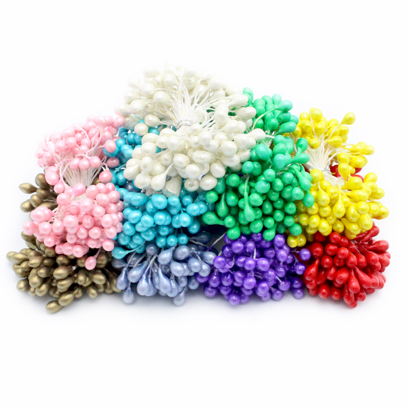 70pcs 5mm multi colors options double tips pearl flower stamen for DIY and cake decoration 11030525(70)