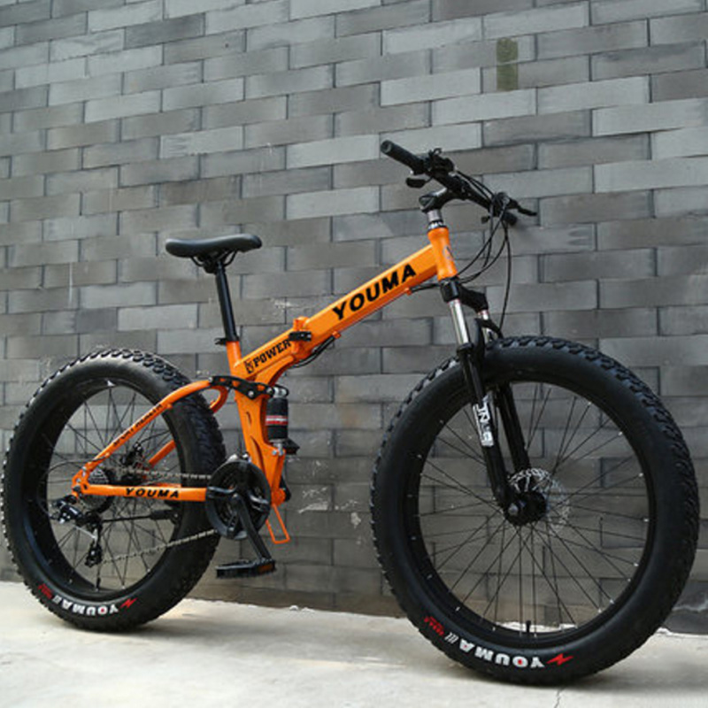 Mountain Bike 24 Inches 27 Speed Double Disc Brake Spoked Wheel 4.0 Widened Tires Both Men And Women
