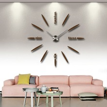 Home Decoration Wall Clock Watch Big Mirror Wall Clock Modern Large Size Wall Clocks 3D DIY Acrylic Wall Sticker Unique Gift funlife 3d diy moon stars clock acrylic mirror wall sticker